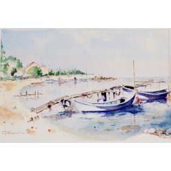 Barques amarrées au Ponton